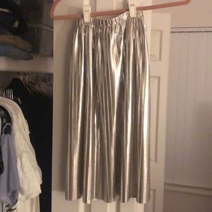 Zara girls silver skirt